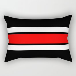 Team Colors 2...red,white and black...stripes Rectangular Pillow