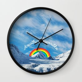 Anusthing is possible in Alaska Wall Clock
