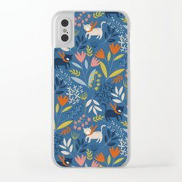 Cats & Flora Clear iPhone Case