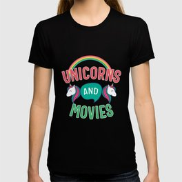 Unicorn And Movies Gift T-shirt