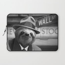 The Sloth of Wall Street Laptop Sleeve