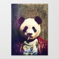 tyler durden Canvas Prints featuring Panda Durden by rubbishmonkey