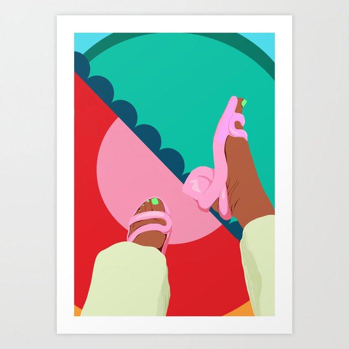 neon feet Art Print