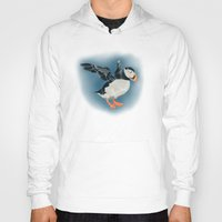 puffin Hoodies featuring Puffin by Belcast