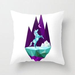 unicorn stand alone Throw Pillow