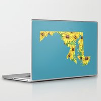 maryland Laptop & iPad Skins featuring Maryland in Flowers by Ursula Rodgers