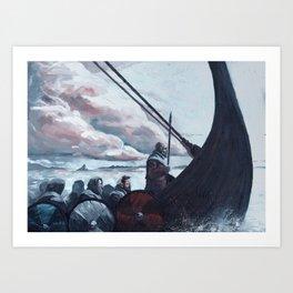 Raiders On The Storm Art Print