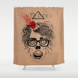 Mild Mannered Zombie Shower Curtain