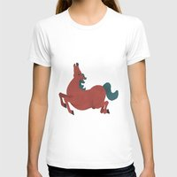 horse T-shirts featuring horse by James White