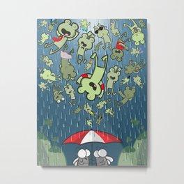 Raining Frogs Metal Print