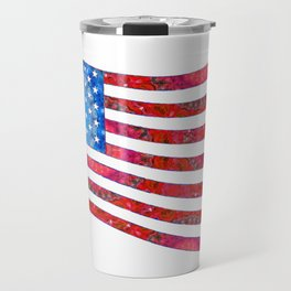 Patriotic Art - Mandala US Flag - United States of America Art - Sharon Cummings Travel Mug