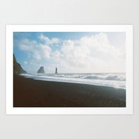 Vik Waves Art Print