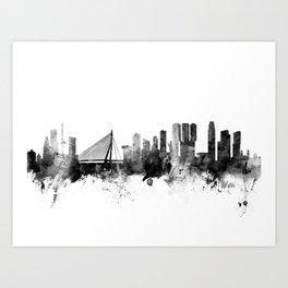 Rotterdam The Netherlands Skyline Art Print