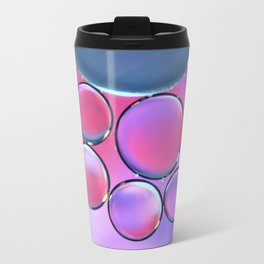 Oil On Water - Bubbles Purple & Pink Travel Mug