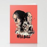kill bill Stationery Cards featuring Kill Bill by RJ Artworks