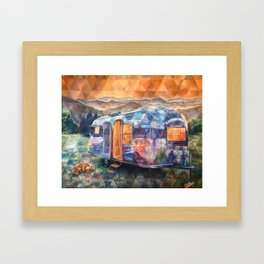 Cozy On Up Airstream Framed Art Print