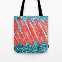 nail polish Tote Bags featuring Not Nail Polish by ghennah