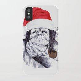 Christmas Chimp iPhone Case