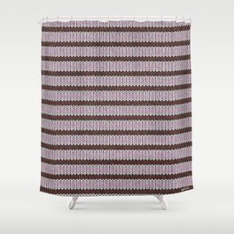 Pink Roses in Anzures 1 Knit 1 Shower Curtain