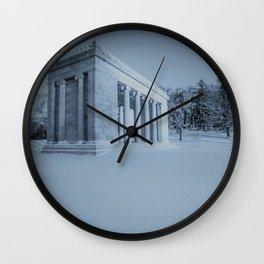 Temple of Music - Roger Williams Park - Providence, Rhode Island Winter Scene Wall Clock