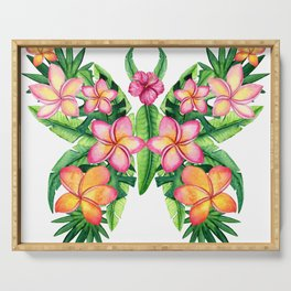 butterfly flowers Serving Tray