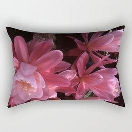 Pink Cactus Blossoms Rectangular Pillow