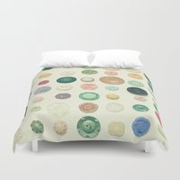 cassia beck Duvet Covers featuring The Button Collection by Cassia Beck