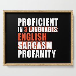 Master Profanity Sarcasm English Serving Tray