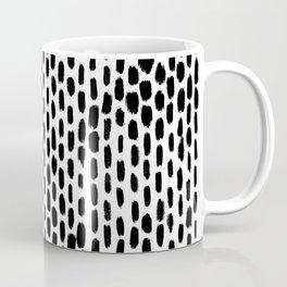 Minimalist Staggered Brush Strokes Black Coffee Mug