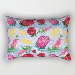 Pretty Australian Native Floral Pattern Rectangular Pillow