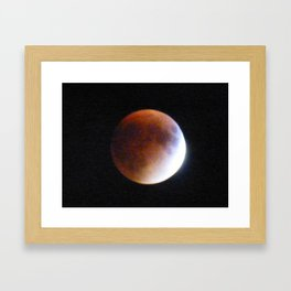 Supermoon Eclipse 2 Framed Art Print
