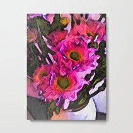 Flowers of Hot Pink 4 Metal Print
