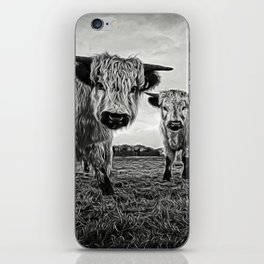 Two Shaggy Cows iPhone Skin