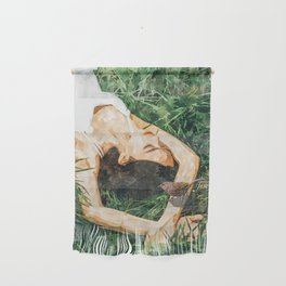 Jungle Vacay #painting #portrait Wall Hanging