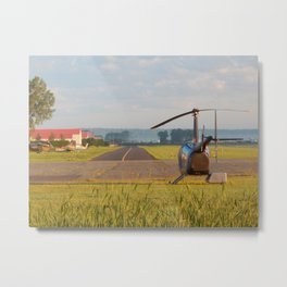 Chopper and Planes at Runway Metal Print
