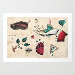 Flash Sheet #1 Art Print