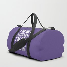 I'm Not Antisocial I'm Pro Leave Me The Fuck Alone (Ultra Violet) Duffle Bag