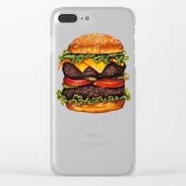 Cheeseburger - Double Clear iPhone Case