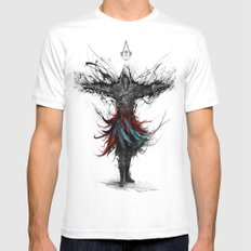 assassins creed White LARGE Mens Fitted Tee