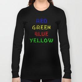 Red Green Blue Yellow Brain Teaser Long Sleeve T-shirt
