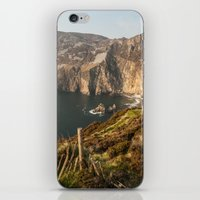 league iPhone & iPod Skins featuring Slieve League by Marie Carr