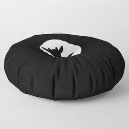 Goat Games Black&White Floor Pillow