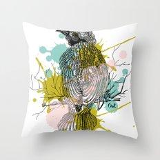 out bird Throw Pillow