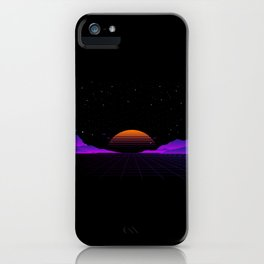 Vaporwave Outrun | Eighties Style iPhone Case