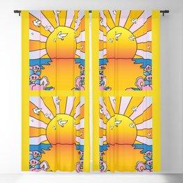 California Sunshine LSD Blotterart Blackout Curtain