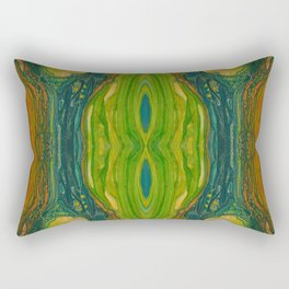 The Excavation of a Luminous Chamber (Enchanted Chemical Abyss) (Reflection) Rectangular Pillow