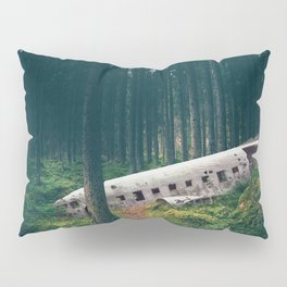 Surreal Iceland Plane Crash-Sólheimasandur Plane Crash in a Swedish Forest Pillow Sham