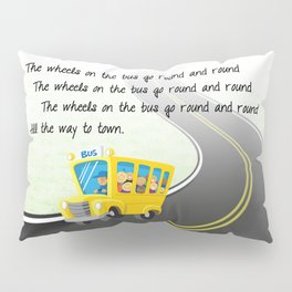 Wheels on the Bus Pillow Sham