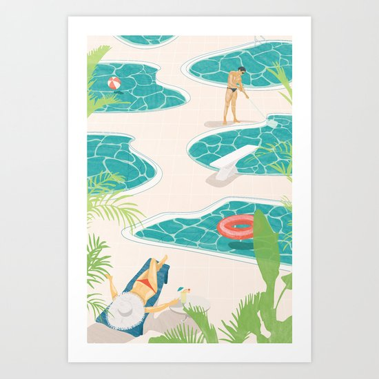 Swimming Pools  Art Print