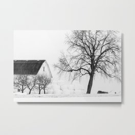 Winter on the Farm Metal Print